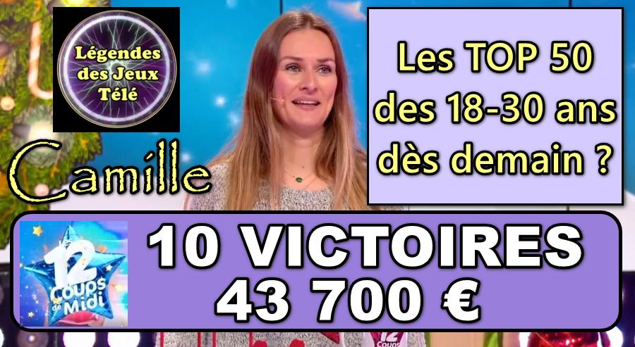 Décisif : l'étoile mystérieuse va-t-elle permettre à Camille d'intégrer à son tour l'histoire des vainqueurs de jeux TV 18-30 ans ?
