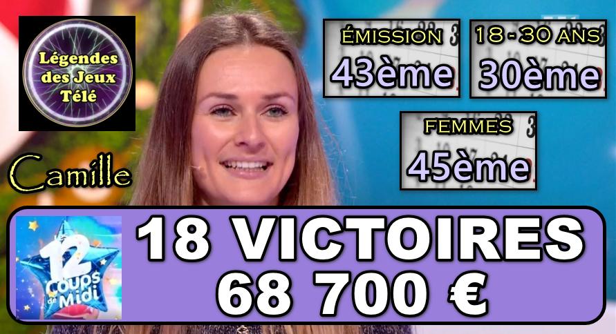 """Championne sensible et souriante, Camille prête à perdurer longtemps dans """"les 12 coups de midi"""" ?"""