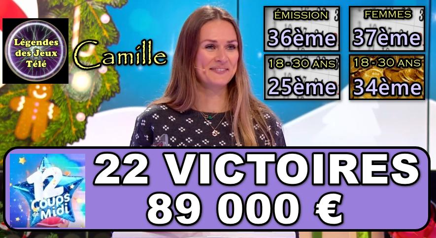 Les 12 coups de midi : malgré le triste acharnement des internautes, Camille va-t-elle confirmer son titre sur la durée ?