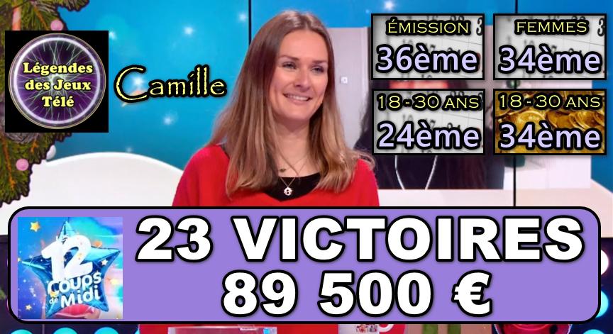 les 12 coups de midi : Camille a-t-elle franchi les 100 000 € pour sa 23ème participation ?