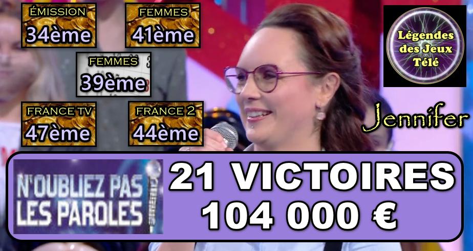 Plus de 100 000 € pour Jennifer de NOPLP : quels sont tous les classements atteints désormais ?