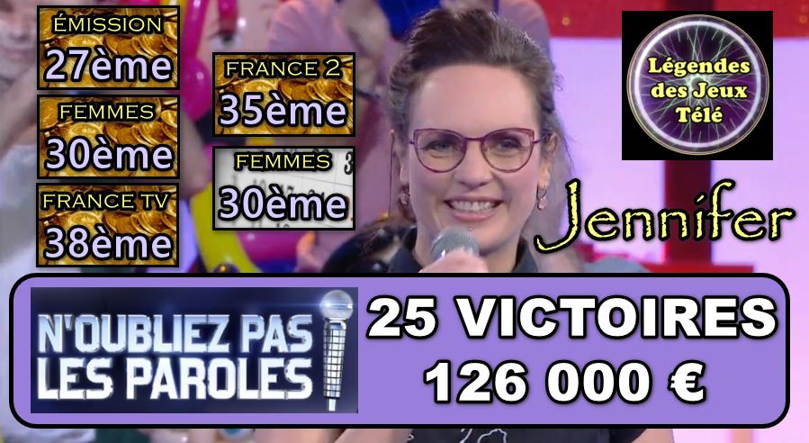 """Coup de tonnerre pour Jennifer ce 12 décembre dans """"n'oubliez pas les paroles"""" ?"""