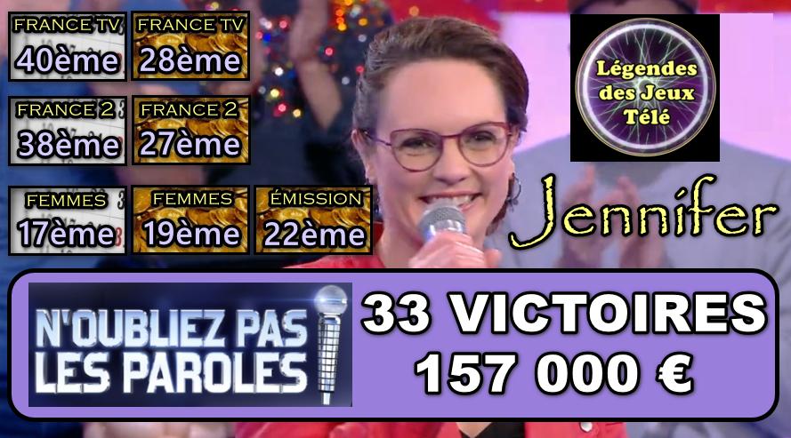 N'oubliez pas les paroles : 22ème plus grande maestro et dans 6 autres classements inédits, quel est le bilan de Jennifer désormais ?