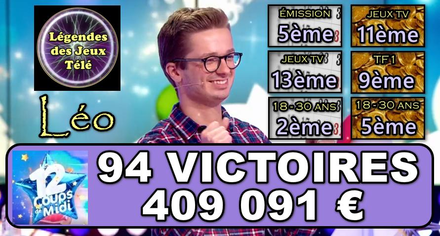 A moins de 1000 € de Kévin et d'être dans le TOP 10 des plus gros gains dans un jeu TV, Léo va-t-il tenir le choc dans « les 12 coups de midi » ?