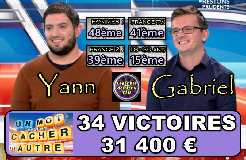 Un mot peut en cacher un autre : Un TOP 15 pour Yann et Gabriel, vainqueurs historiques de jeux télévisés !