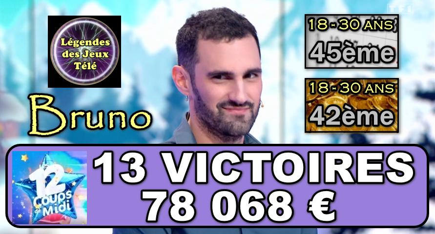 Plus déterminé que jamais, notre maître des étoiles mystérieuses Bruno va-t-il franchir les 100 000 € dès la prochaine partie ?