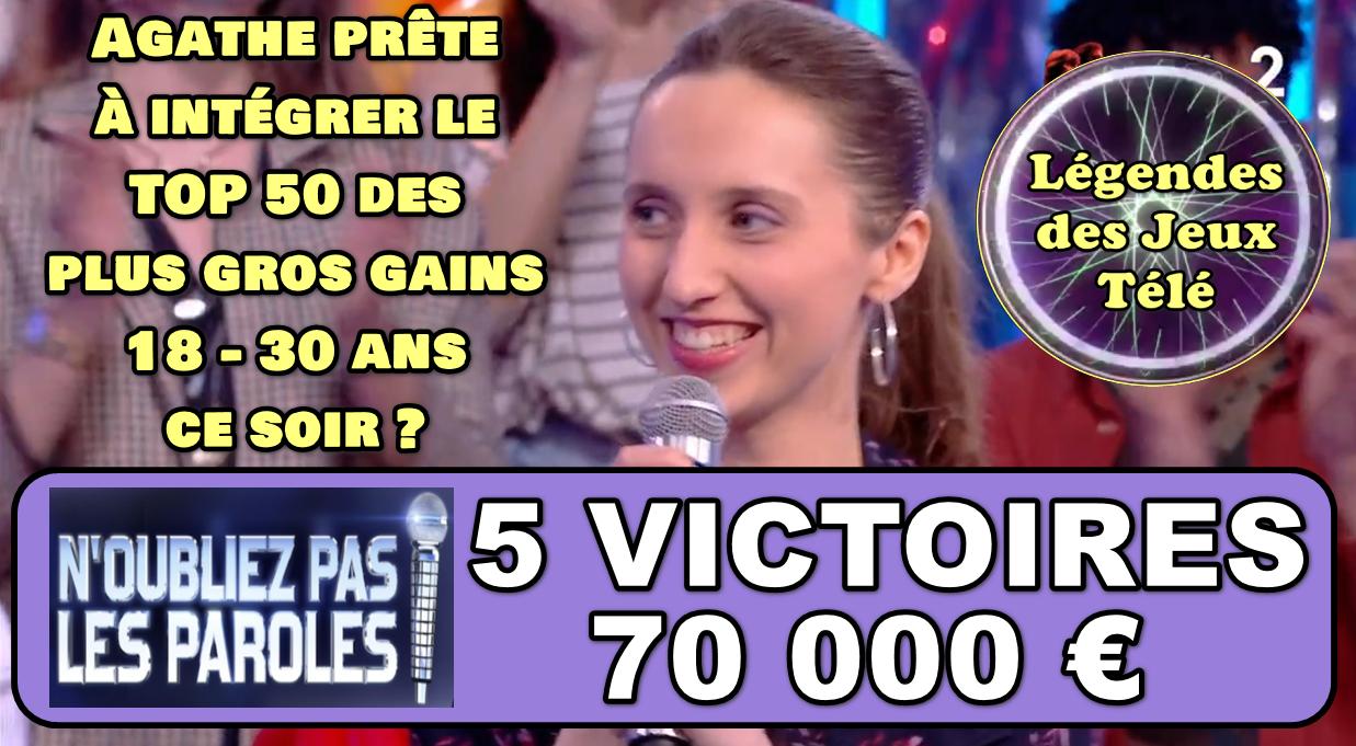 Agathe prête à marquer 2000 € supplémentaires pour intégrer l'histoire des 18-30 ans dans un jeu TV ?