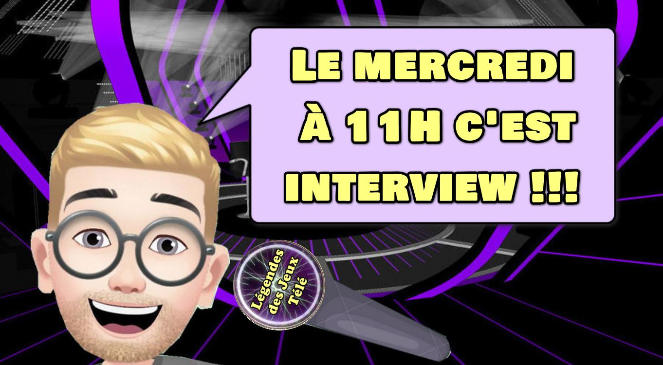 """Le mercredi à 11 H retrouvez une nouvelle interview sur """"légendes des jeux télé"""" ! Qui ont été les 4 premiers invités ?"""