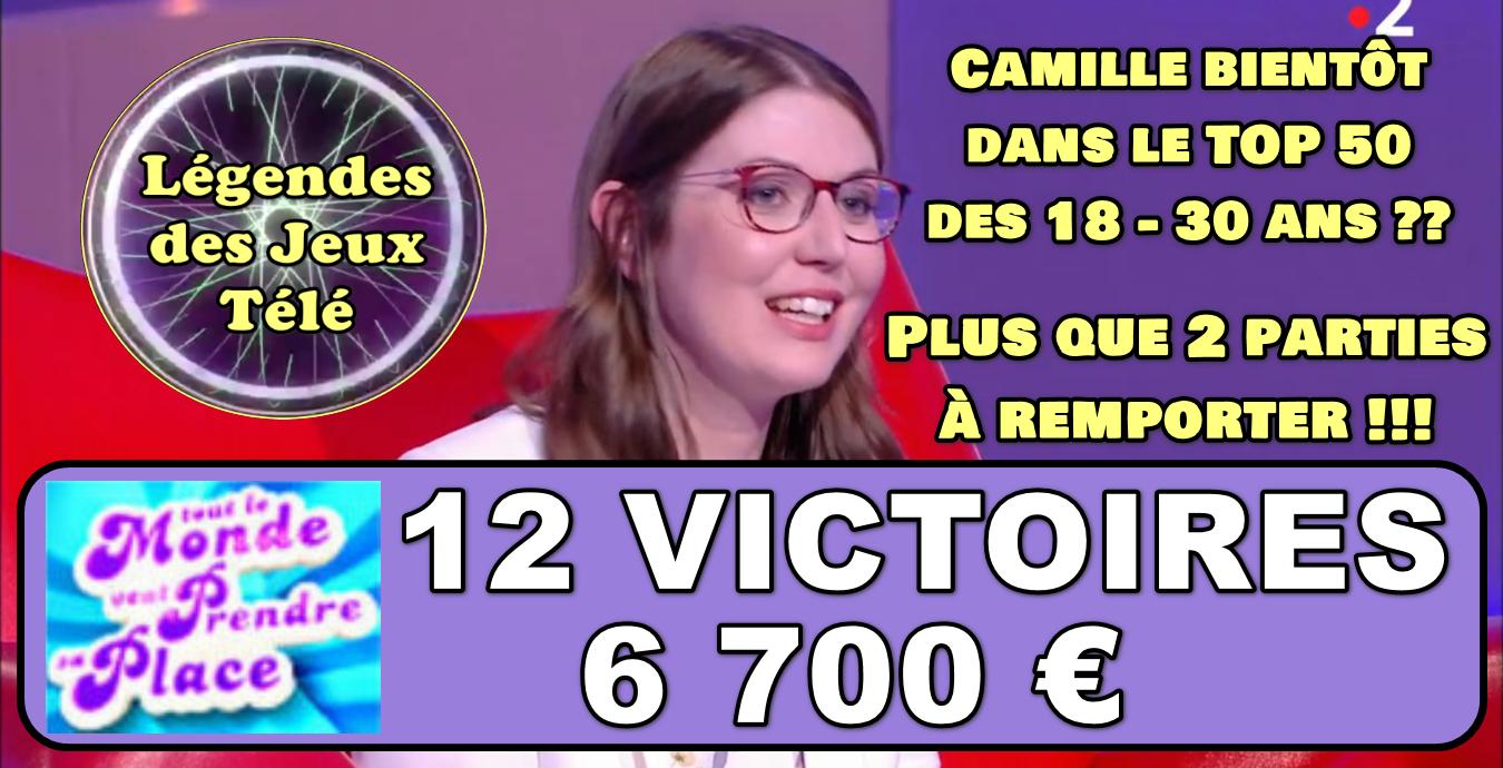 Tout le monde veut prendre sa place : 12ème victoire validée pour Camille, atteindra-t-elle les 14 pour intégrer un classement inédit ?