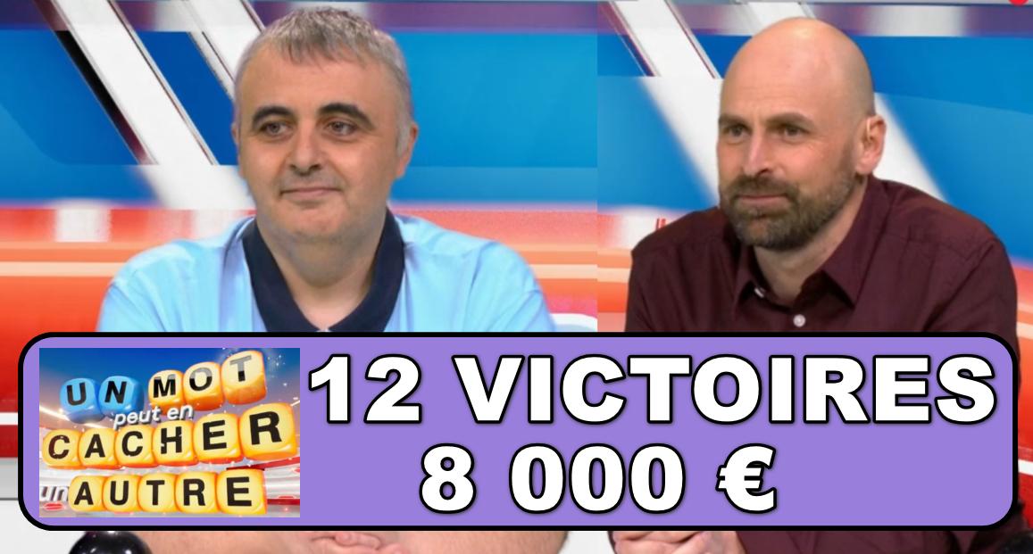 """Nouveau record pour Nicolas d'""""un mot peut en cacher un autre"""" ! Prêt avec Richard à marquer l'histoire des jeux TV ?"""