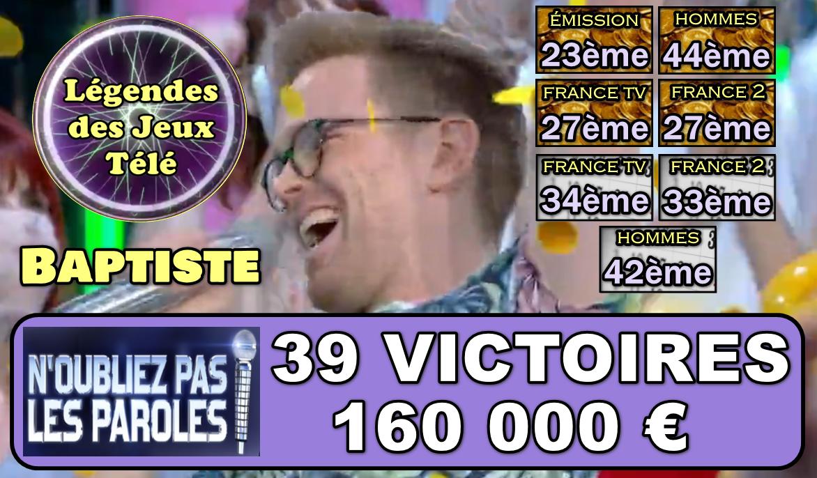 Nouvelles belles émotions pour Baptiste avec les 20 000 € en seconde émission ! Découvrons tous ses classements inédits ! :-)