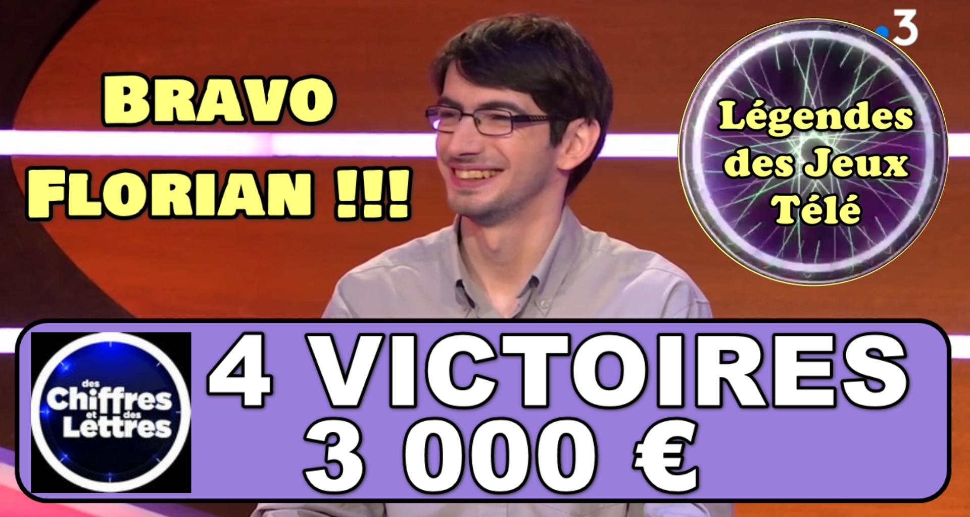 """Coup de tonnerre pour Florian dans """"des chiffres et des lettres"""" et une interview exclusive !"""