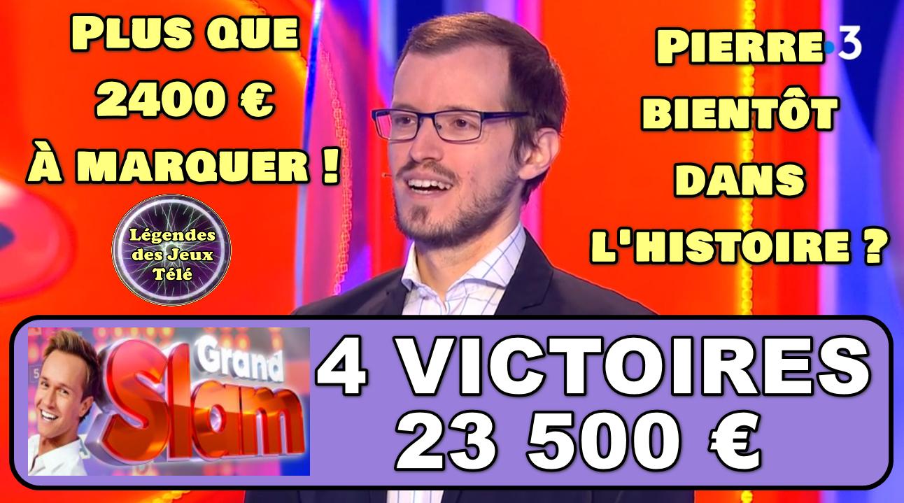 """Plus que 2400 € à marquer !!! Pierre du """"Grand Slam"""" bientôt dans le TOP 50 de France 3 ?"""