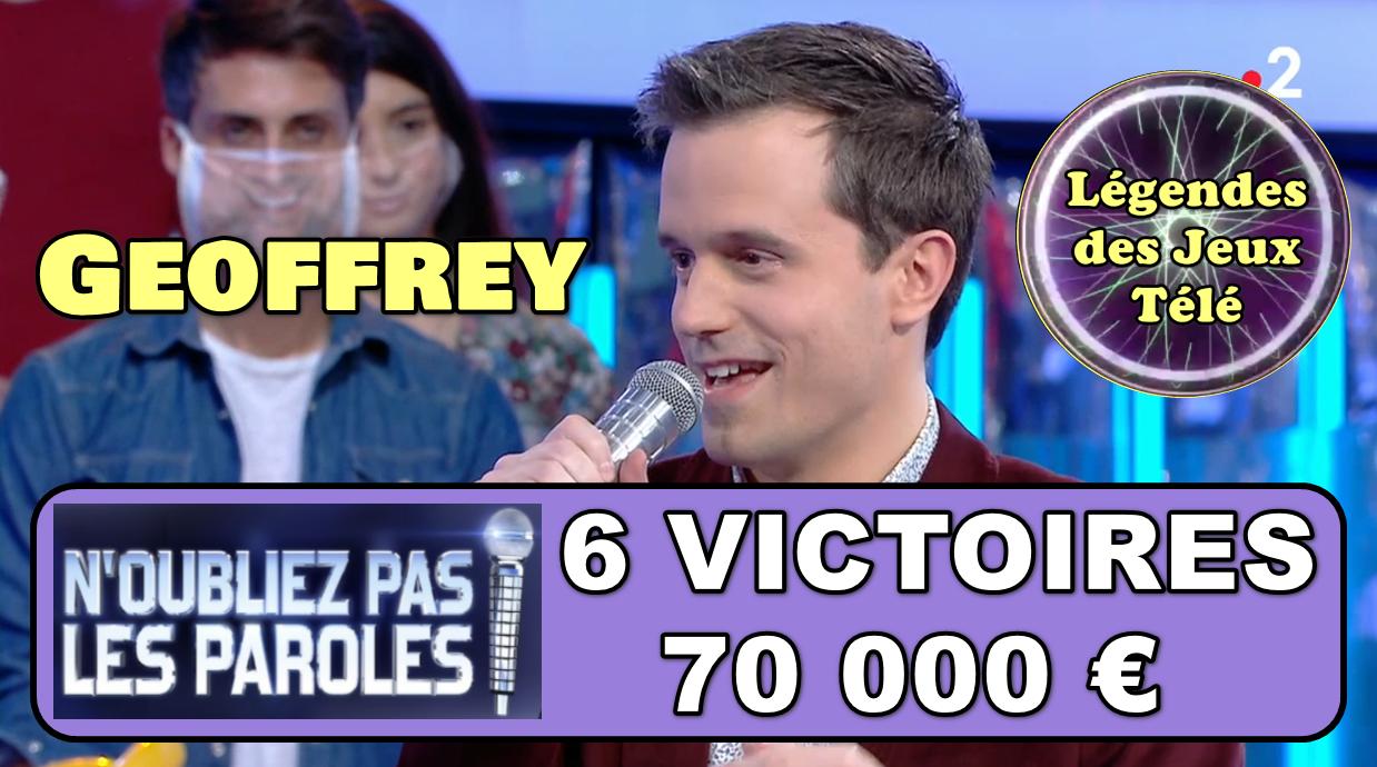 Alerte : après 6 victoires seulement, Geoffrey pourrait-il intégrer l'histoire des jeux TV dès ce samedi ?