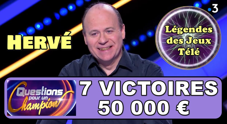 """Brillantissime dans """"questions pour un super champion"""", Hervé arrivera-t-il à rattraper Yann et Emmanuel au niveau des 8 victoires ce samedi ?"""