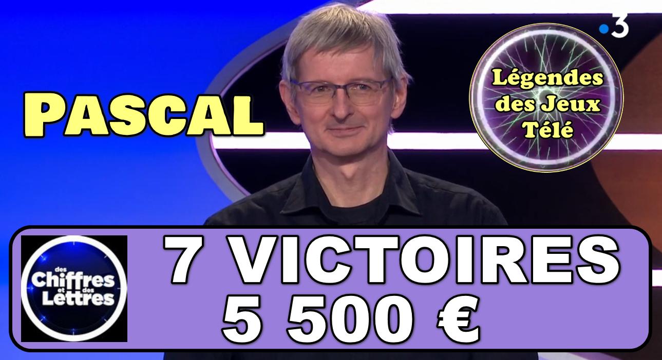 """A défaut de devenir recordman de """"des chiffres et des lettres"""", Pascal pourrait-il tout du moins intégrer l'histoire des jeux TV sur France 3 ?"""