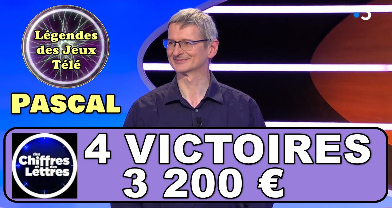 """Après les 4 victoires passées c'est encore possible !!! Pascal pourrait-il faire tomber le record de """"des chiffres et des lettres"""" ?"""