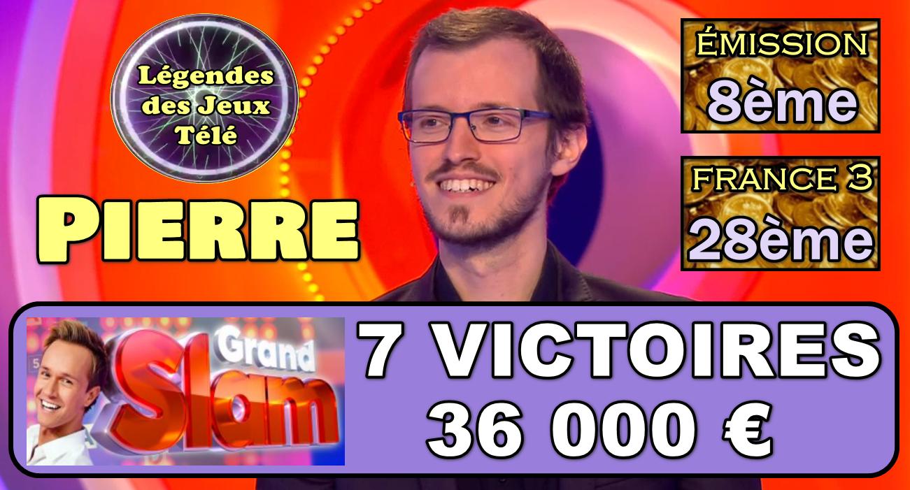 """Désormais dans le TOP TEN du """"Grand Slam"""", Pierre prêt à poursuivre sa progression parmi les plus gros gains sur France 3 ?"""