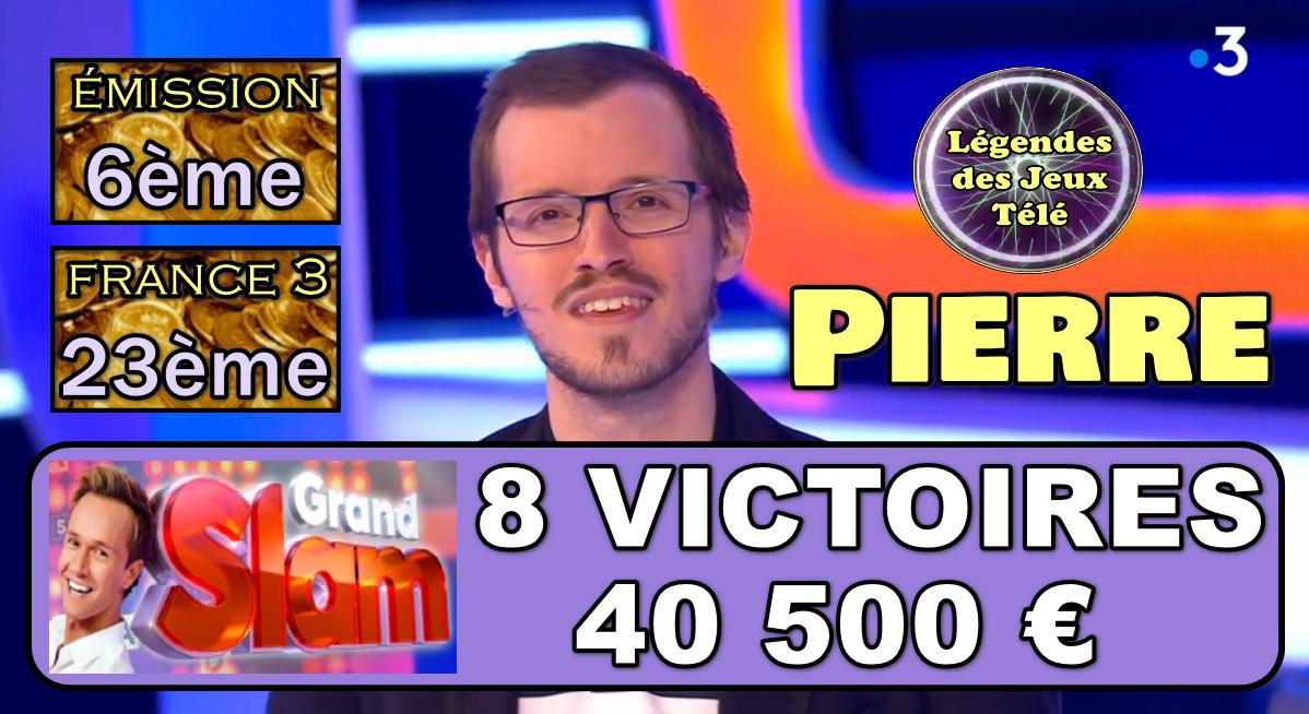 """8ème dimanche victorieux pour Pierre dans le """"Grand Slam"""", 40 500 €… Les 50 000 dès la prochaine ?"""